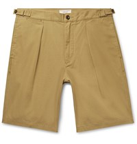 J.Crew Wallace And Barnes Pleated Cotton Shorts Brown