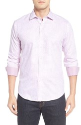 Bugatchi Men's Shaped Fit Sport Shirt Plum