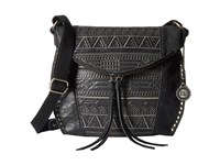 The Sak Silverlake Crossbody Black Tribal Quilt Cross Body Handbags
