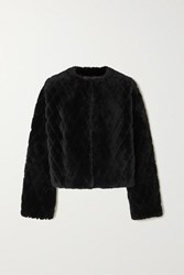 Givenchy Quilted Shearling Jacket Black