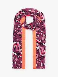 John Lewis Collection Weekend By Bloom Jacquard Stripe Cotton Scarf Pink Mix