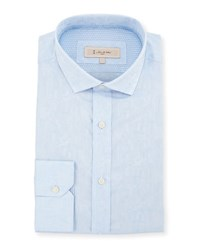 English Laundry Textured Dress Shirt Blue