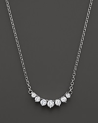 Bloomingdale's Diamond 7 Stone Necklace In 14K White Gold 1.50 Ct. T.W.