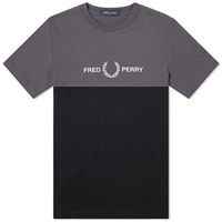 Fred Perry Authentic Block Logo Tee Grey
