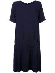 Odeeh Gathered T Shirt Dress Blue