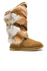 Australia Luxe Collective Mongol Fox Fur Boot Brown