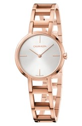 Calvin Klein Cheers Bracelet Watch 32Mm Rose Gold Silver Rose Gold
