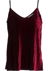 Tart Collections Pleated Chenille Camisole Merlot