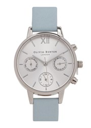 Olivia Burton Midi Dial Chronograph Stainless Steel Watch Light Blue