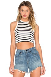 Alexander Wang Cotton Jersey Crop Top Ivory