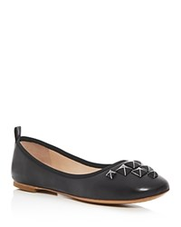 Marc Jacobs Cleo Studded Ballet Flats Black