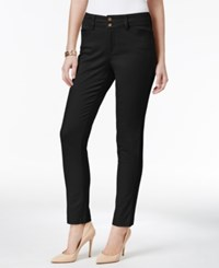 Charter Club Tummy Control Skinny Ankle Pants Only At Macy's Deep Black