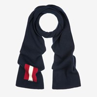 Bally Trainspotting Stripe Scarf Blue Ink
