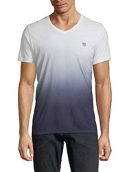 Cult Of Individuality Ombre Cotton Tee Ombre Blue