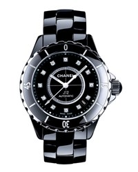 Chanel J12 Black 38Mm Ceramic Watch With Diamonds