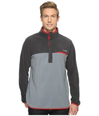 Columbia Mountain Side Fleece Jacket Grey Ash Shark Moutain Red Men's Coat Gray