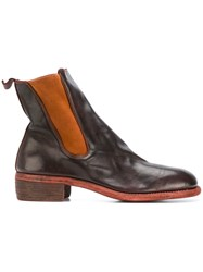 Guidi Chunky Heel Chelsea Boots Brown