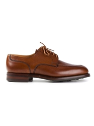 Crockett Jones Crockett And Jones Chunky Derby Shoe Brown
