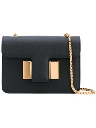 Tom Ford Chain Shoulder Bag Women Patent Leather Brass One Size Black