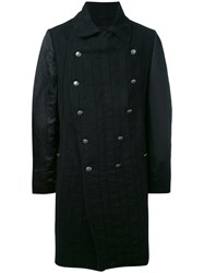 Ann Demeulemeester Farraday Coat Men Cotton Linen Flax L Black
