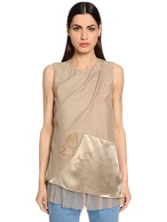 Vionnet Tulle And Silk Satin And Anvers Satin Top