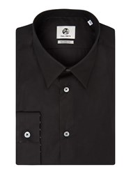 Paul Smith Men's Ps By Tailored Fit Small Collared Shirt Black