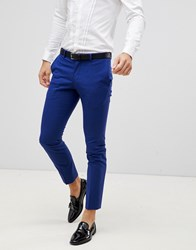 Selected Homme Skinny Fit Suit Trousers Dark Blue