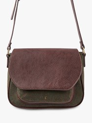 Joules Darby Tweed Saddle Bag Green Check