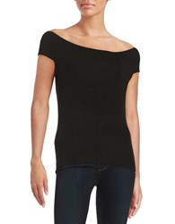 Design Lab Lord And Taylor Boatneck Tee Black