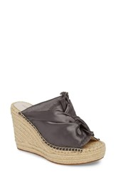 Kenneth Cole New York Odele Espadrille Wedge Charcoal Satin