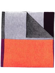 Paul Smith Ps By Colour Block Scarf Yellow And Orange