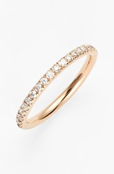 Bony Levy Women's 'Stackable' Large Straight Diamond Band Ring Nordstrom Exclusive Rose Gold
