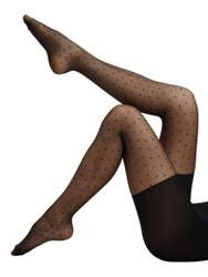 Spanx Swiss Dot Sheer Tights Black