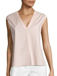 Peserico Sleeveless V Neck Blouse Soft Pink