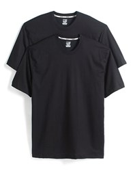 Jockey Big And Tall 2 Pack Stay New Cotton Crewneck T Shirts Black