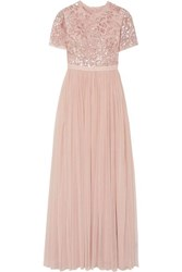 Needle And Thread Dream Rose Open Back Sequin Embellished Tulle Gown Baby Pink