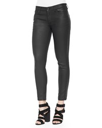 Belstaff Coated Zip Pocket Skinny Jeans Black