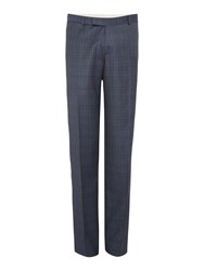 Simon Carter Men's Melange Twill Over Check Suit Trousers Grey