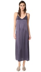 Vince Pleat Neck Slip Dress Plum