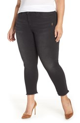 Wit And Wisdom Seamless Frayed Ankle Skimmer Jeans Black