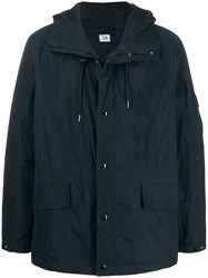 C.P. Company Total Eclipse Drawstring Hooded Jacket Blue
