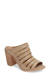 Very Volatile Women's Splice Slide Mule Taupe Faux Leather