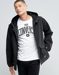 Converse Hooded Jacket In Black 10001185 A03 Black