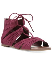 Carlos By Carlos Santana Chloe Lace Up Strappy Sandals Women's Shoes Sangria