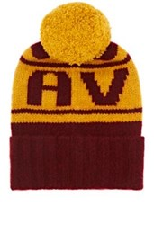 The Elder Statesman X Nba Men's Cavs Cashmere Pom Pom Beanie Burgundy