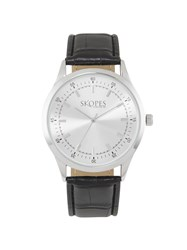 Skopes Mens Black Leather Strap Watch