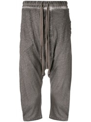 Thom Krom Cropped Relaxed Fit Trousers Grey