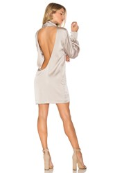 Trois Beverly Silk Dress Taupe