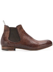 Lidfort Elastic Ankle Boots Brown