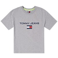 Tommy Jeans 5.0 'S 90S Logo Tee Grey